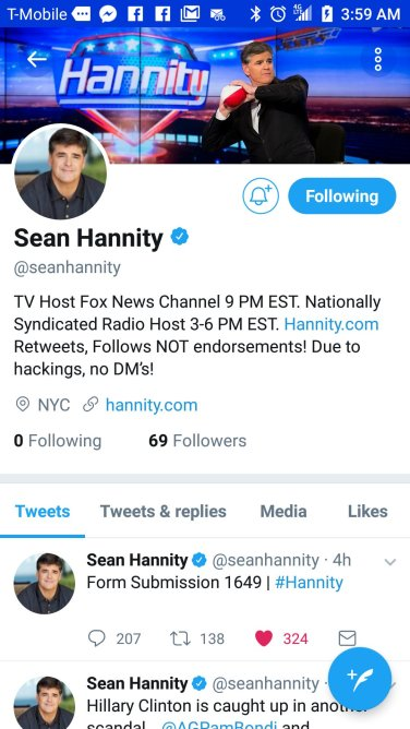 hannity twitter down